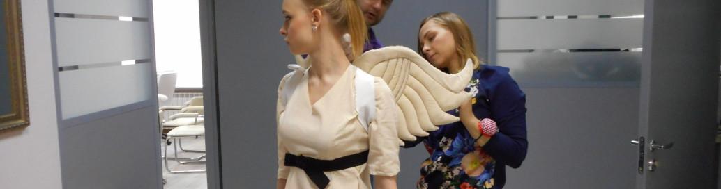 Примерка костюмов ангелов